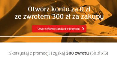 Załóż konto w mBanku i zyskaj do 300 złotych zwrotu za zakupy