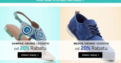 Rabat 20% na obuwie i dodatki na Bonprix