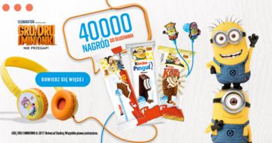 Promocja Kinder 40 tysięcy Nagród do Słuchania
