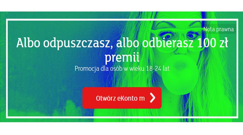 Promocja mBanku: 100 złotych za założenie konta w mBanku dla młodych