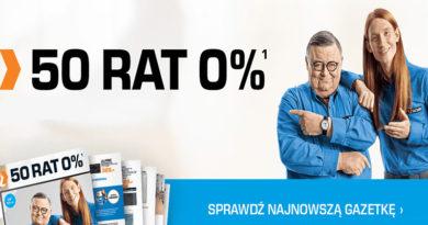 50 rat 0% w sklepach marki Saturn