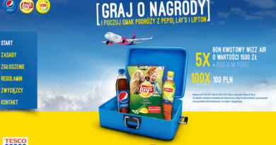 Konkurs Tesco Poczuj smak podróży z Pepsi, Lay's i Lipton