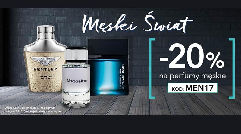 Rabat 20% na perfumy męskie w Douglas
