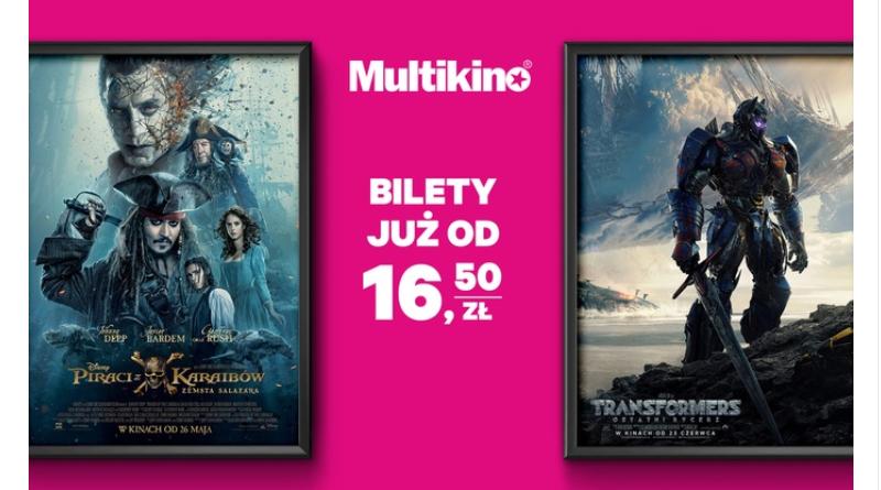 Promocja Groupon: Bilety do Multikina już od 16,50 zł