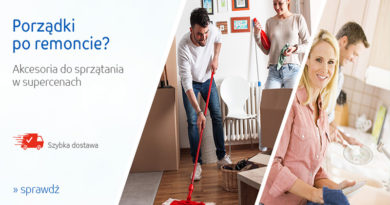 Akcesoria do sprzątania w obniżonych cenach na eMAG.pl