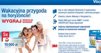 Konkurs Viscoplast w Biedronce na wakacje