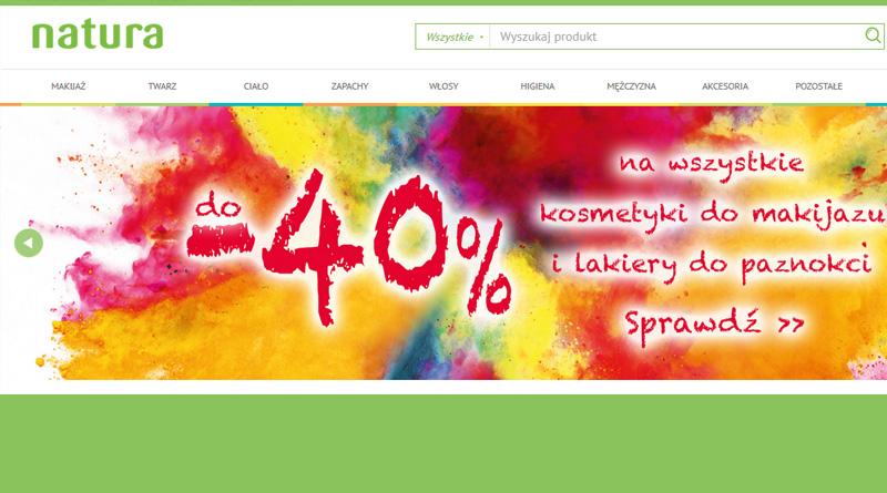 W drogerii Natura rabat do -40% na kosmetyki