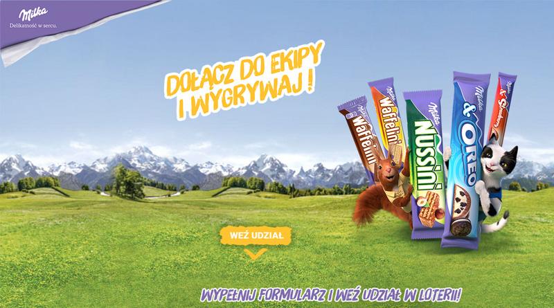Loteria Eurocash Dołącz do ekipy Milka i wygrywaj