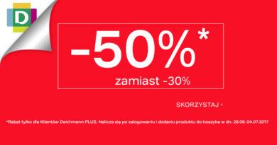 W sklepie Deichmann rabaty sięgają do -50%