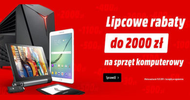 Rabaty do 2.000 zł na sprzęt komputerowy w Media Markt