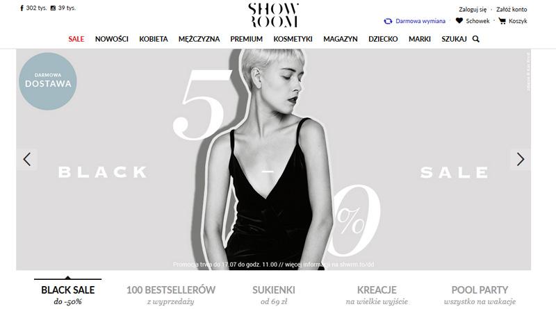 Black sale do -50% w Showroom