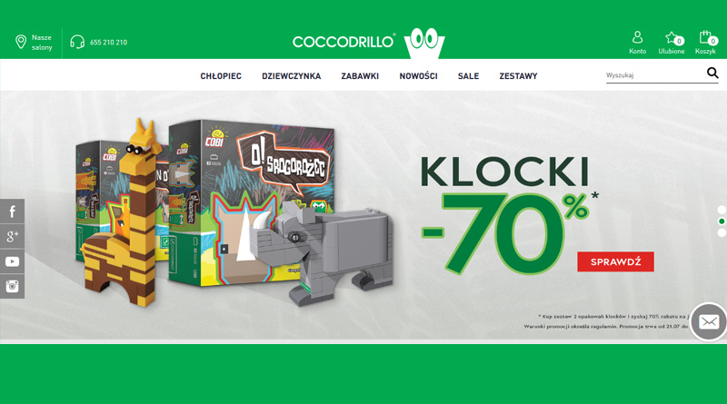Rabaty na klocki w Coccodrillo do -70%