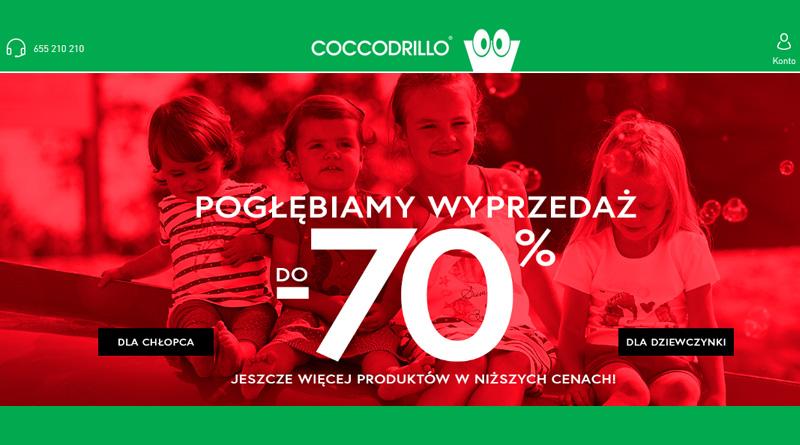 Wyprzedaż do -70% w sklepie Coccodrillo