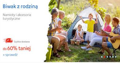 Namioty i akcesoria turystyczne do 60% taniej na eMag.pl