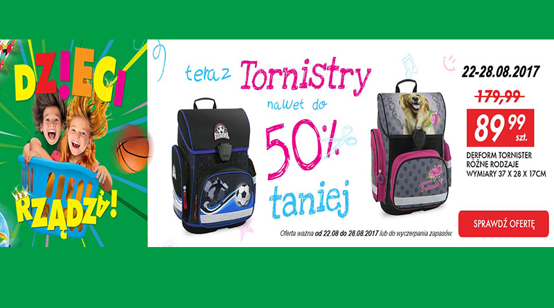 Tornistry nawet do 50% taniej w AuchanDirect