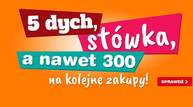 Otrzymaj kod rabatowy do 300 zł na kolejne zakupy w OleOle!