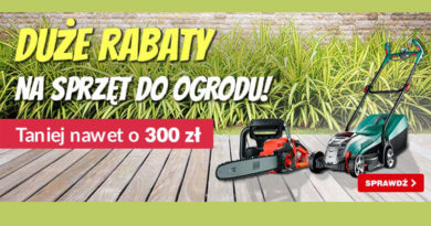 Sprzęt ogrodowy tańszy nawet o 300 zł w OleOle!