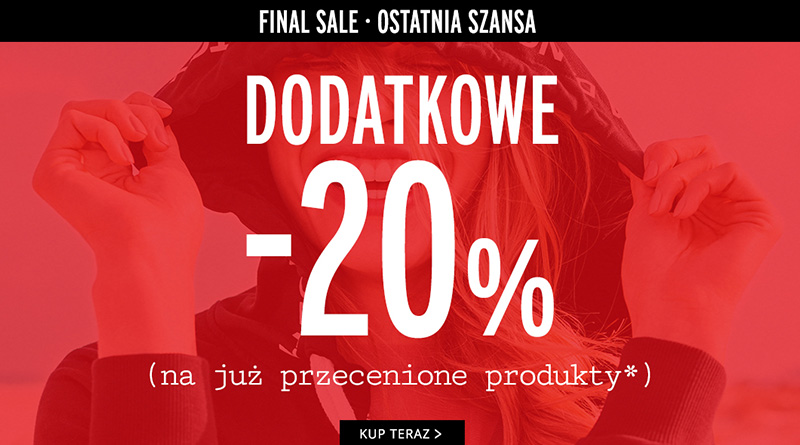Dodatkowy rabat -20% w salonie Orsay!