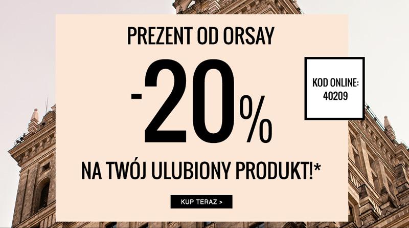 Rabat 20% na Twój ulubiony produkt w Orsay