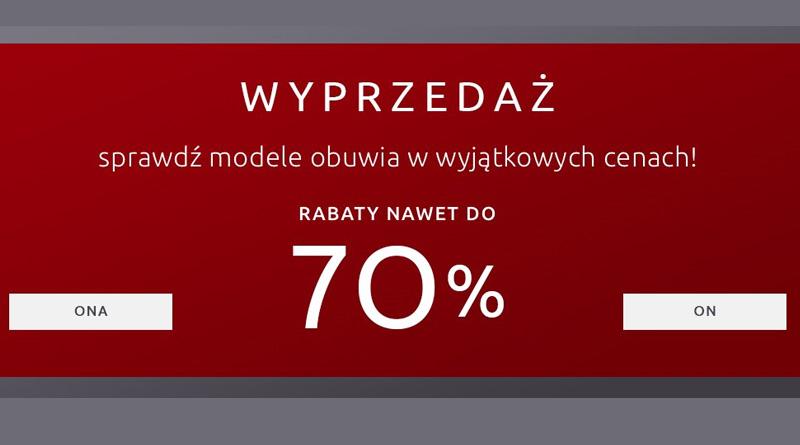 Wyprzedaż nawet do -70% w sklepie Wojas