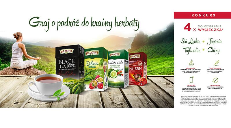Konkurs Big Active Graj o podróż do krainy herbaty