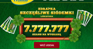 Loteria Lewiatan Szczęśliwe siódemki Lewiatana