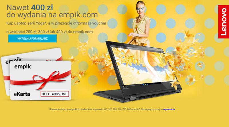 Komputronik i voucher do 400 zł na zakupy w Empik.com