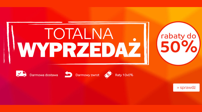 Totalna wyprzedaż z rabatami do -50% na eMag.pl