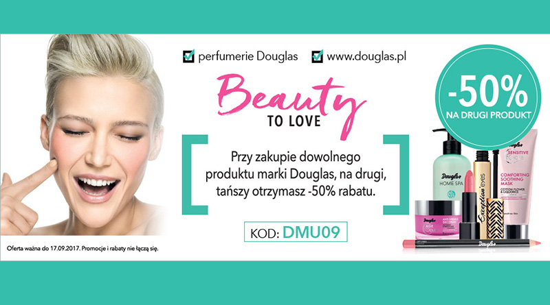 Rabat -50% na drugi produkt w perfumerii Douglas
