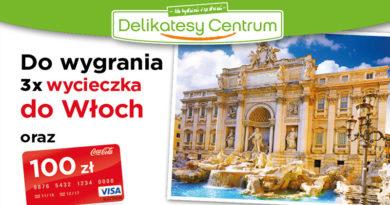 Loteria Delikatesy Centrum Wygraj wycieczkę z Coca-Cola