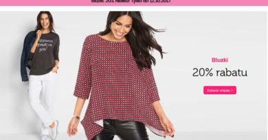 Rabat 20% na bluzki w sklepie Bonprix