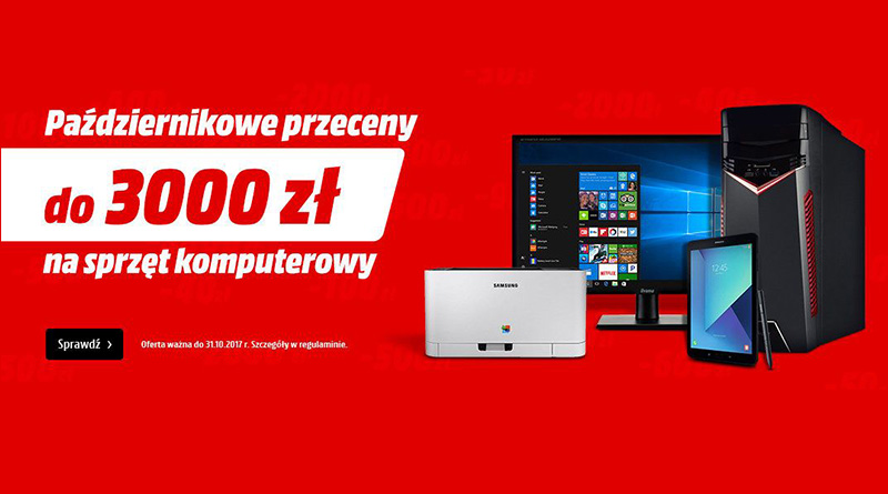 Przeceny do 3000 zł na sprzęt komputerowy w Media Markt