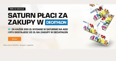 Saturn płaci za zakupy w Decathlon!