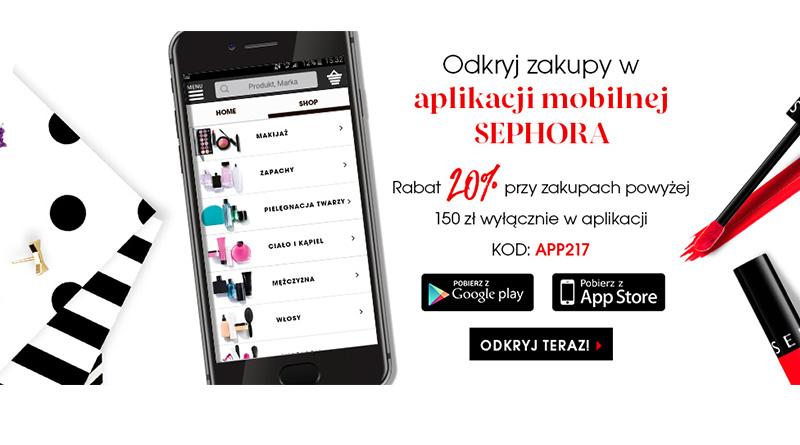Rabat 20% w mobilnej aplikacji Sephora