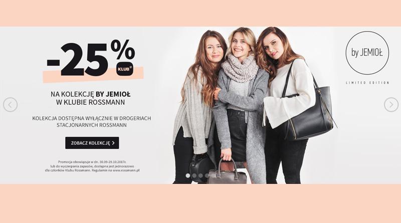 Rabat 25% na kolekcję BY JEMIOŁ w Klubie Rossmann