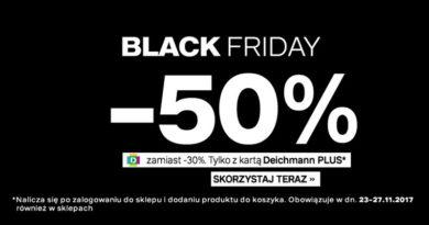 Black Friday 2017 i rabaty 50% w Deichmann