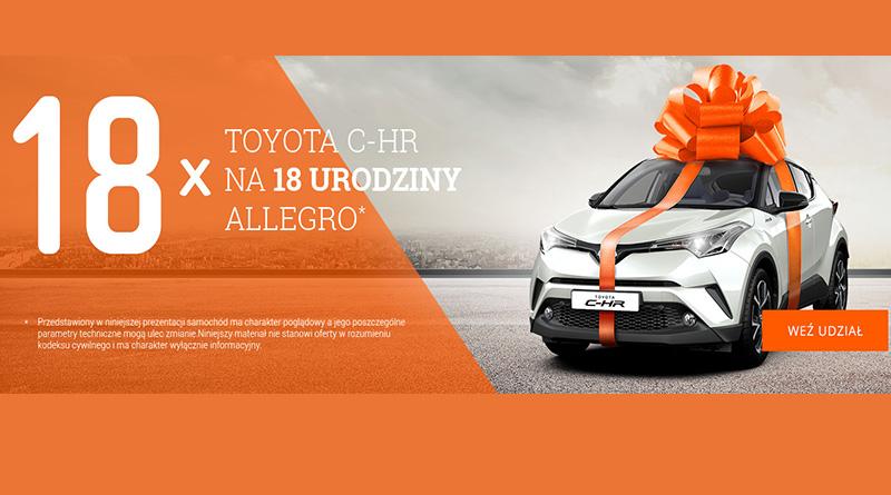 Konkurs Allegro 18 samochodów na 18-te urodziny Allegro