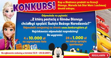 Konkurs Biedronka Boże Narodzenie z bohaterem Disneya