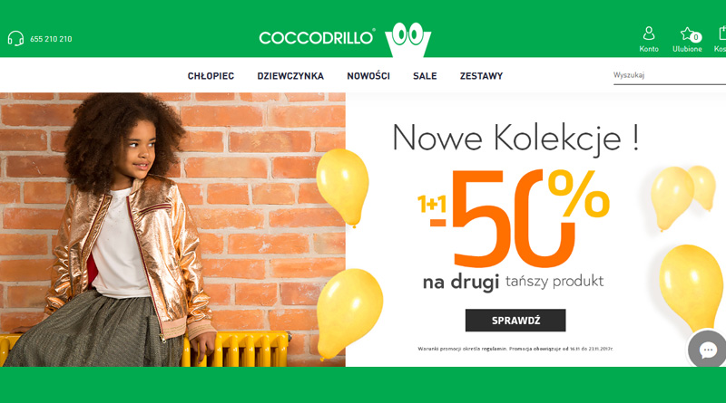 Rabat 50% na drugi tańszy produkt w Coccodrillo