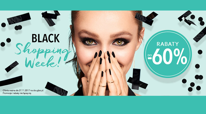 Black Shopping Week z rabatami do -60% w Douglas