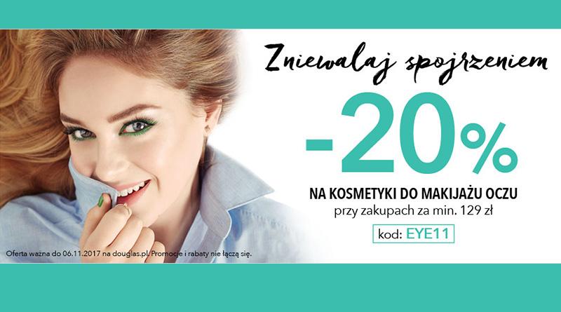 Rabat 20% na kosmetyki do makijażu oczy w Douglas