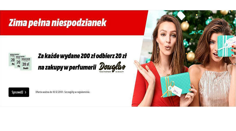Za każde wydane 200 zł odbierz 20 zł w Media Markt