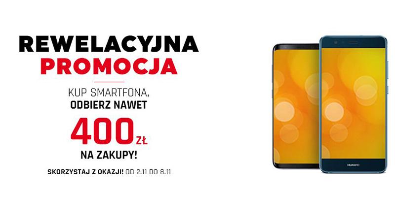 Kup smartfona i odbierz do 400 zł na zakupy w Neonet