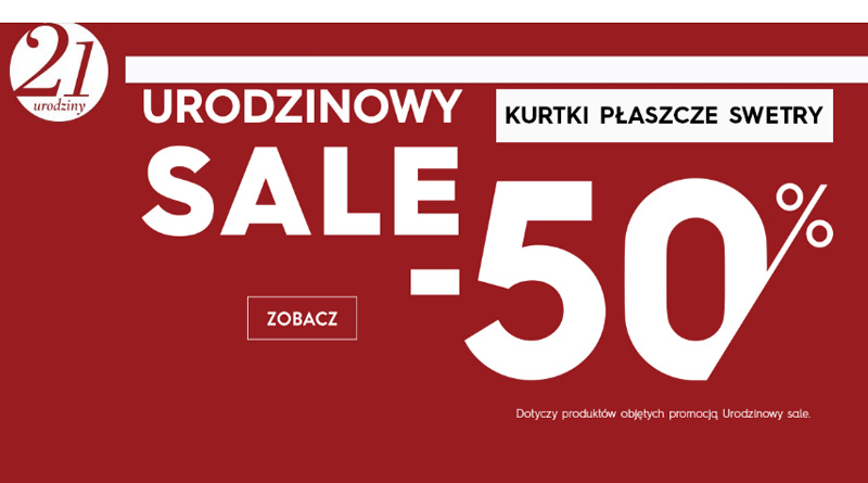 Urodzinowy SALE -50% w Top Secret
