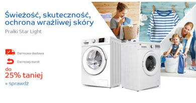 Pralki Star Light do 25% taniej na eMag.pl
