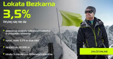 50 zł za założenie Lokaty Bezkarnej BGŻOptima oraz 3,5% w skali roku