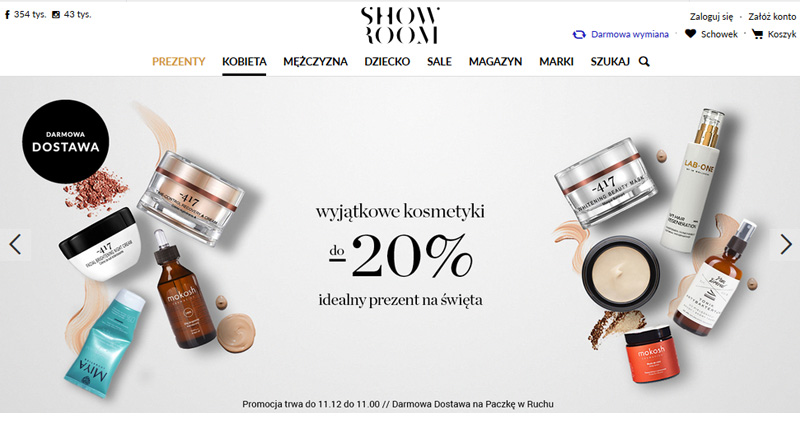 Kosmetyki z rabatami do 20% w Showroom