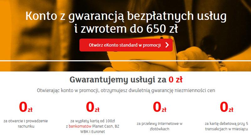 Konto mBank z gwarancją bezpłatnych usług i zwrotem do 650 złotych