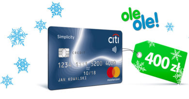 Z Kartą Kredytową Citibank obniżysz cenę zakupów w oleole! o 400 zł