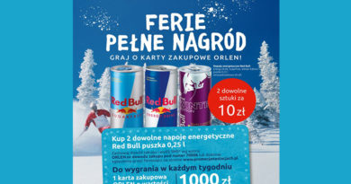 Loteria Orlen Red Bull na stacjach ORLEN